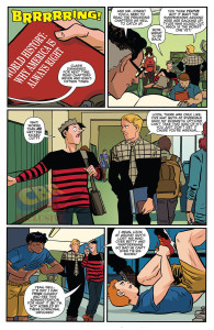 Preview pages from the latest issue of Jughead. Image courtesy of Comic Book Resources.