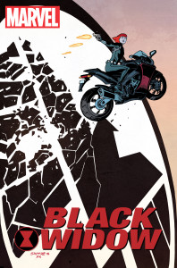 Black Widow returns to Marvel in explosive action written by Mark Waid and Chris Samnee. Photo courtesy of Comics Alliance.