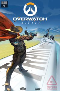 The cover of the first Overwatch comic featuring McCree. Image courtesy of Nerdist.