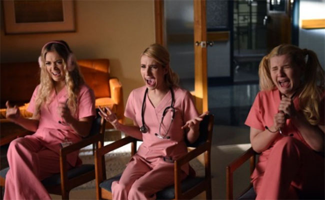 Even scrubs come in pink if you're a Chanel. Photo courtesy of Rotten Tomatoes